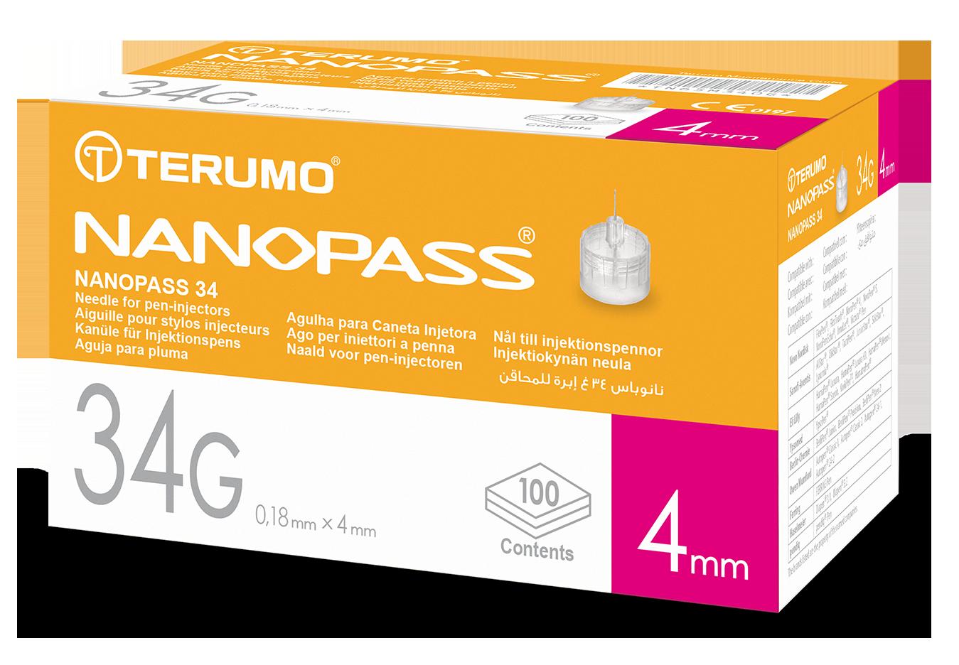 Nanopass® 34G Pen Needle